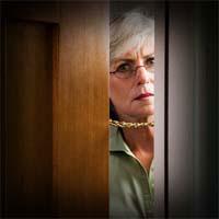 Mulher pobre não abriu a porta