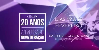 Aniversário 20 anos - NOVA GERAÇÃO - PAGLIARIN