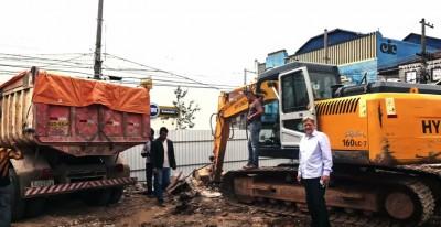 Início da construção da Sede Própria - Novo Templo